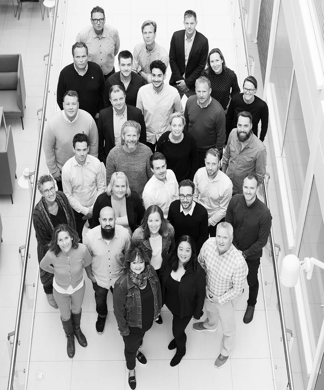 bilde av mennesker alle som jobber i dib