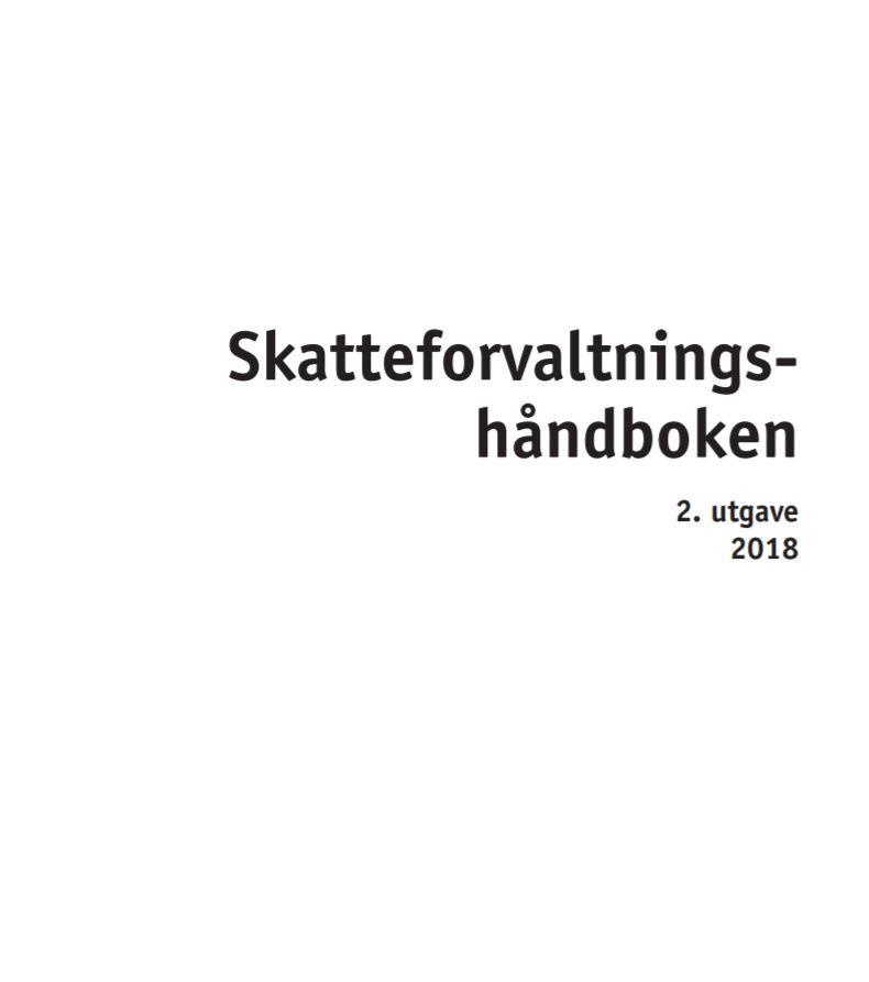 Skatteforvaltningshåndboken, 4. utgave 2018