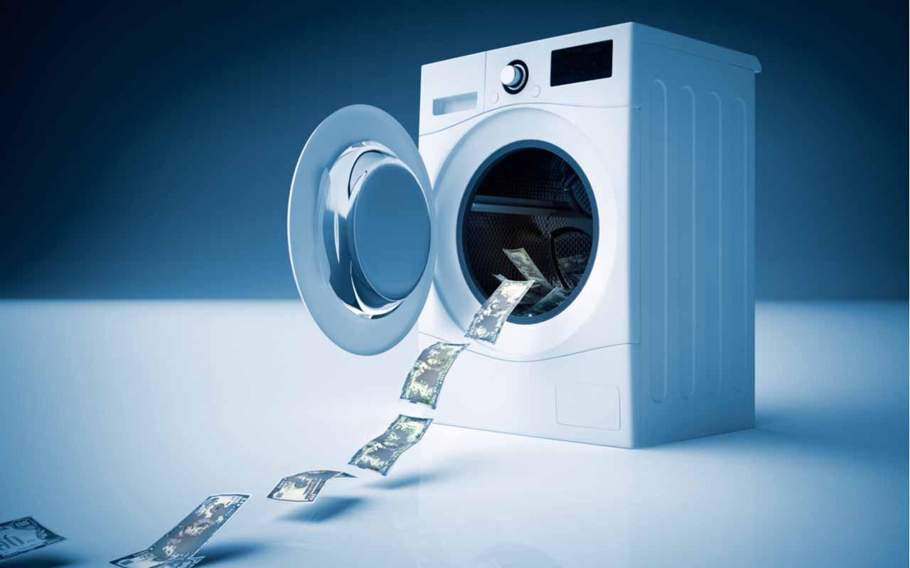 vaskemskin som vasker penger