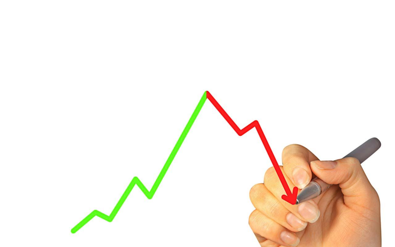 hånd som tegner en graf
