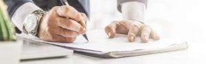 signering v kontrakt