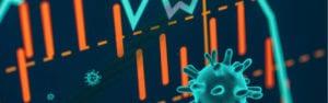 illustrasjon koronavirus og børs