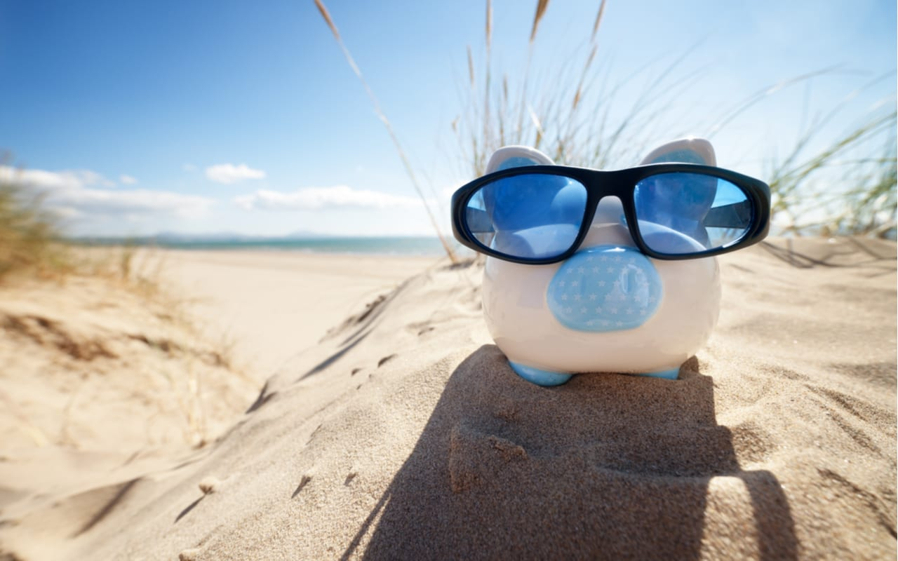sparegris med solbriller